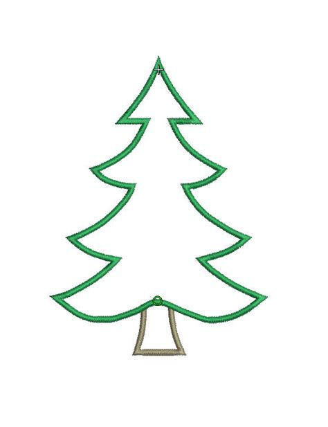 christmas tree applique pattern instant download machine applique design christmas tree