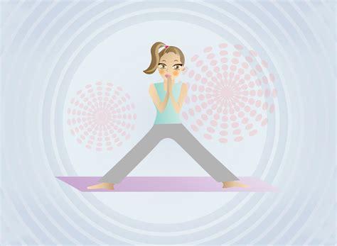 cartoon yoga wallpaper free yoga girl vector