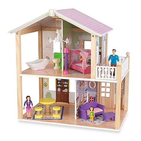 doll house clearance kidkraft 174 deluxe country lane cottage dollhouse with furniture buybuybaby com