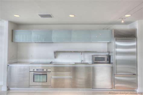 Pictures Of Kitchens Modern Stainless Steel Kitchen Frosted Kitchen Cabinet Doors