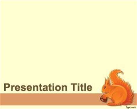 powerpoint zoo themes squirrel powerpoint template