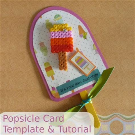Popsicle Card Template by Craftymarie