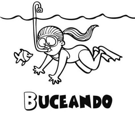 imagenes de niños nadando para colorear ni 209 a nadando para dibujar imagui