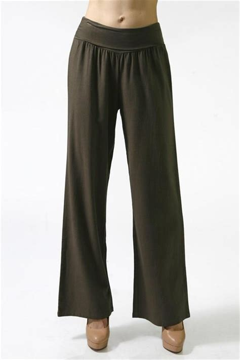 Comfy Wide Legs 2 by Comfy Banded Waist Fold Linen Pallazzo Pant Wide Leg