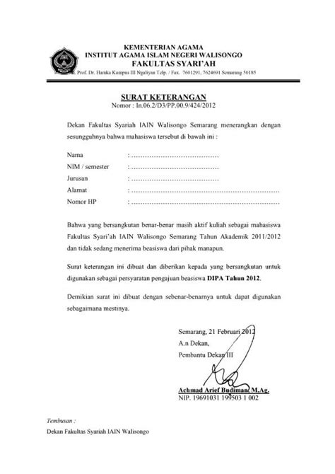 Format Surat Pernyataan Lpdp 2015 | 7 contoh surat pernyataan tidak menerima beasiswa dari