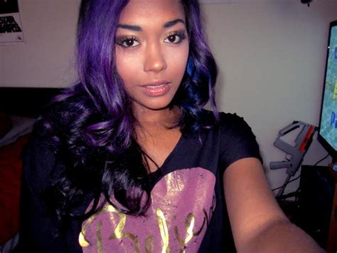 black women with purple hair purple hair on african american women is beautiful