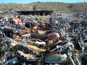 Honda Motorcycle Salvage Yards Motorcycle Graveyard And Jake S Corner Ride