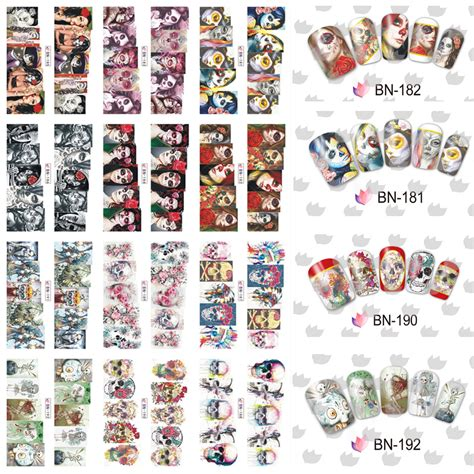 Rimowa Sticker Design12 aliexpress buy 12 sheets cool nail cover water transfer sticker decals