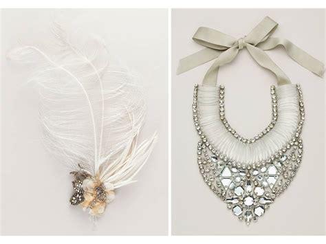 designer wedding accessories wedding hair accessories gorgeous feather hair flower and statement bridal necklace