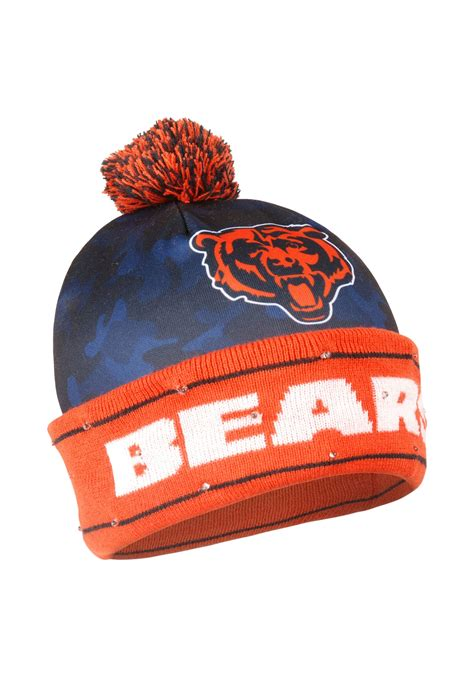 chicago bears light up sign nfl chicago bears camouflage light up printed beanie