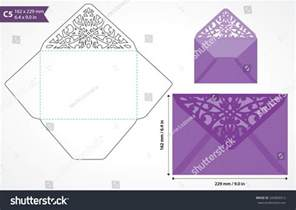 envelope pattern template die cut envelope template vector standard stock vector