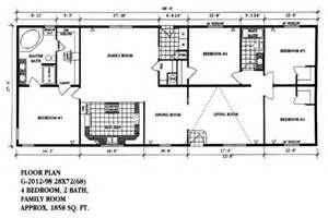 Floor Plans For Mobile Homes Double Wide by Double Wide Mobile Home Floor Plans Double Wide Homes Com
