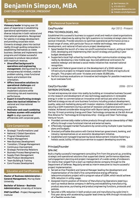 resume examples for executives examples of resumes