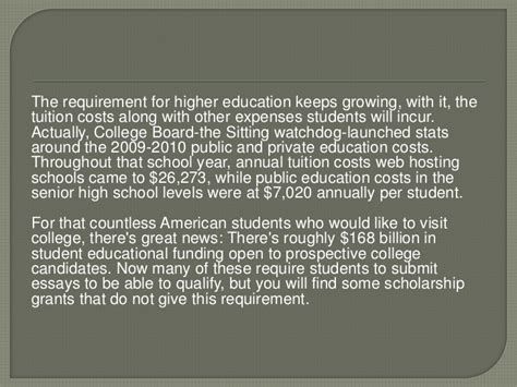No Essay College Scholarships by No Essay College Scholarships