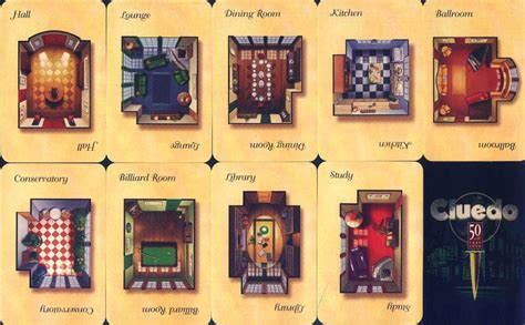 clue rooms clue room cards attach to cards juegos de mesa caseros discover more