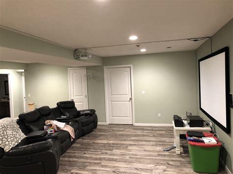 basement theater setup hometheater