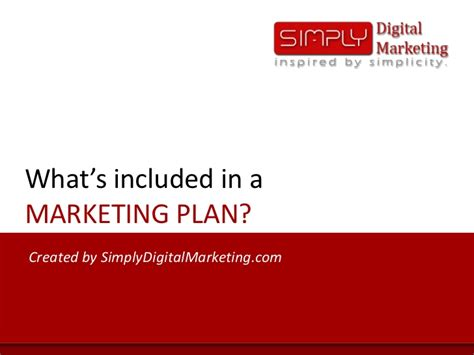 what s included what s included in a marketing plan