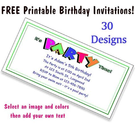 printable children s party invitations free 32 best images about printables for kids on pinterest