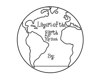 coloring page of the earth s layers layers of the earth flip book the earth flip books and