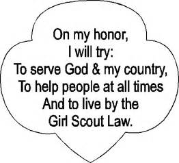 Girl scout promise printable on girl scouts coloring activities