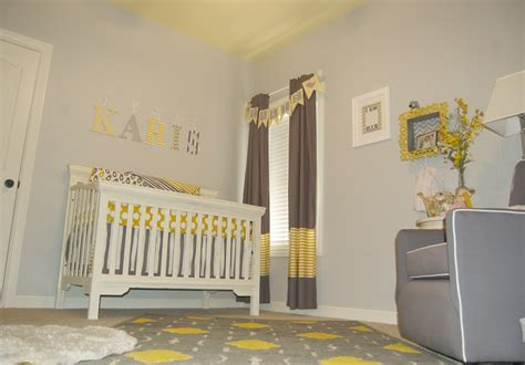 Yellow And Grey Nursery Curtains Baby Gray And Yellow Nursery Project Nursery