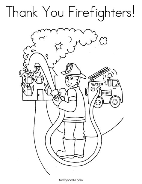 Thank You Fireman Coloring Pages by Firefighter Coloring Page Fighter Coloring Page