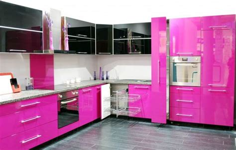 pink kitchens innovative kitchen decoration ideas with very cool color