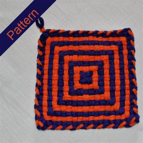 potholder loom pattern pattern instructions for cross and squares potholder