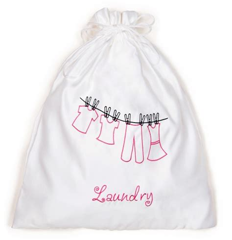 Zazendi Hair Dryer Bag white sateen drawstring bag