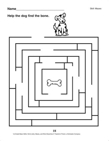 printable mazes first grade 13 best images of free 1st grade maze worksheets 3rd