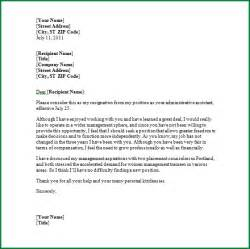 Resignation Letter Sle Word Resignation Letter Templates Microsoft Word 28 Images Two Weeks Notice Letter 31 Free Word