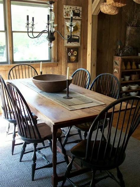 primitive dining room furniture primitive colonial dining room farmhouse pinterest