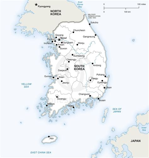 political map of korea vector map of south korea political south korea korea