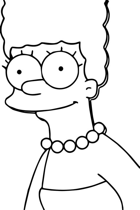 the simpsons coloring pages marge the simpsons coloring page wecoloringpage