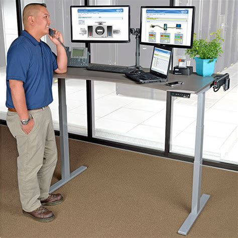 electric sit stand desk adjustable height standing desks sit stand desks tripp