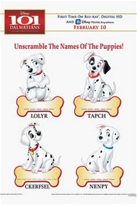 101 dalmatians names 1000 images about 101 on 101 dalmatians dalmatians and dalmatian puppies