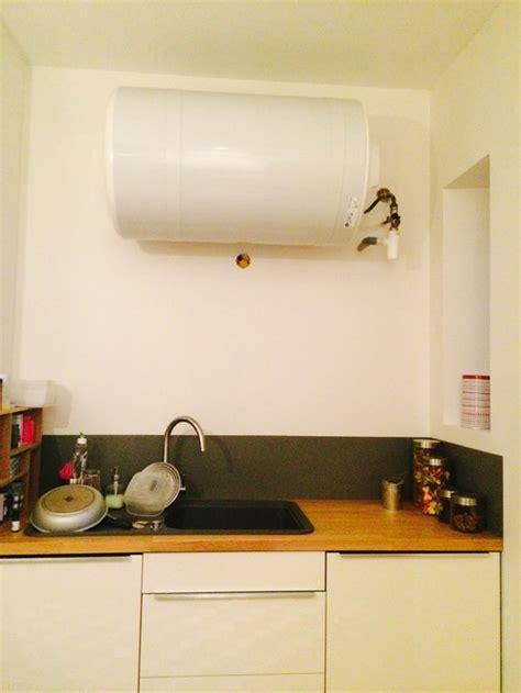 chauffe eau cuisine 駘ectrique habillage d un chauffe eau cuisine