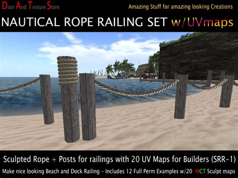 boat dock ropes second life marketplace dats sculpted rope railing for