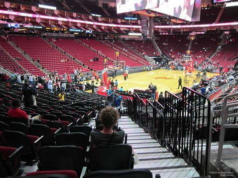toyota center sections toyota center section 125 houston rockets