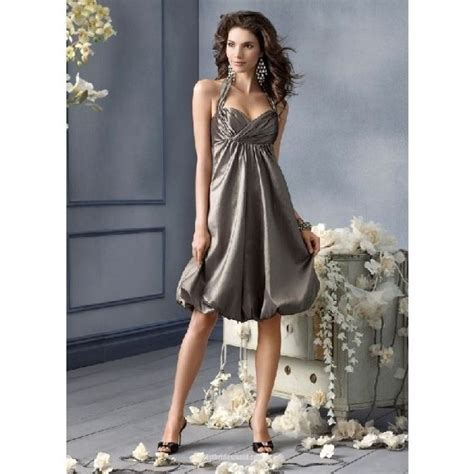 chicclothing images a line halter knee length taffeta