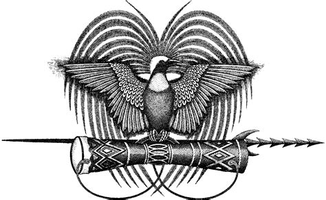 papua new guinea tattoo designs the papua new guinea national emblem png charm