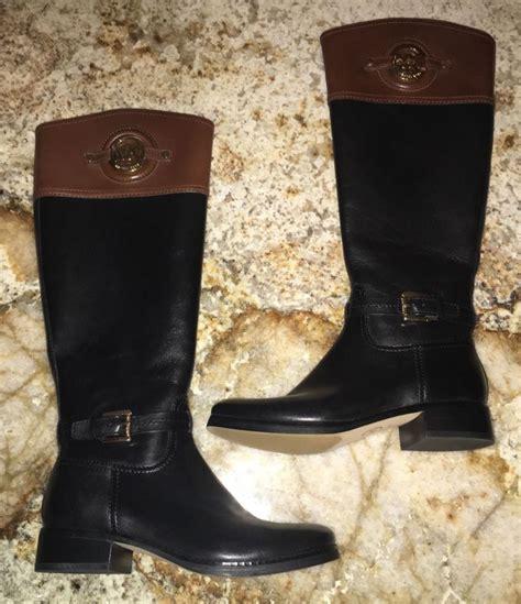 new womens 5 5 michael kors stockard black brown leather