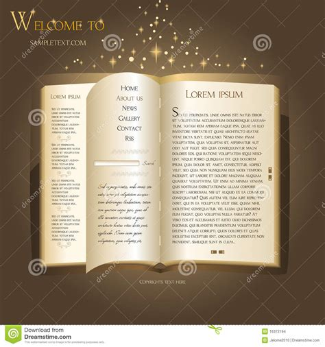 html design book download website design fairytale book stock illustration image