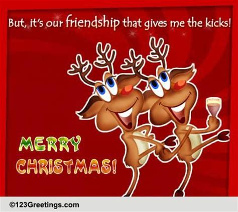 christmas toast  friends ecards greeting cards