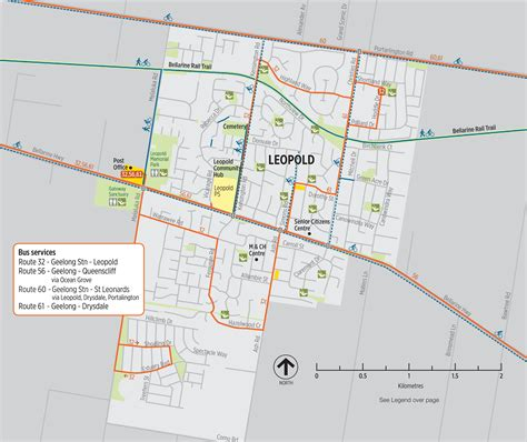 printable map geelong south central geelong leopold active travel maps