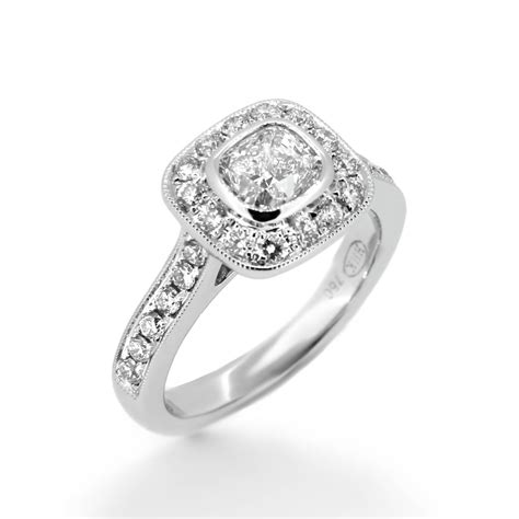 cushion cut vintage style engagement rings vintage style cushion cut engagement ring