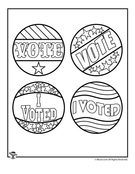 election day voting badge template woo jr kids activities