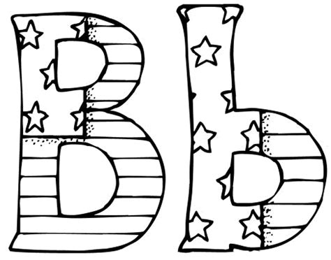 letter b colouring pages