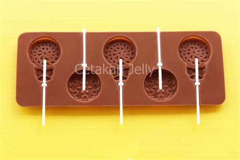 Cetakan Coklat Lolipop Bulat Kecil cetakan silikon coklat permen lolipop bulat patern ii