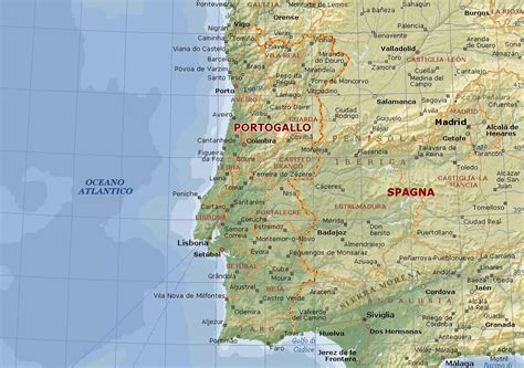 porto gallo portogallo mappa fisica